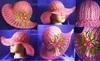 Шляпа цвета фуксии с цветами