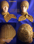 Бежевая шапочка и шарф в технике брюггского кружева