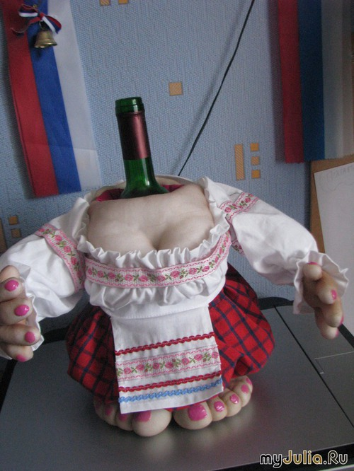 Бутылка для кукол своими руками мастер класс 811