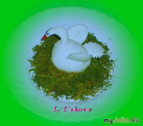 Мастер класс лебедь из яйца