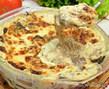 Сливочно-сырная запеканка с грибами