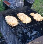 Баклажаны с сыром на гриле
