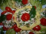 Сырные тарталетки... с салатом.