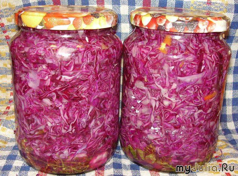 Заготовки из красной капусты