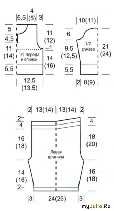 Вязание спицами детский костюмчик схема 841