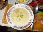 Суп - пюре сырный с кабачками