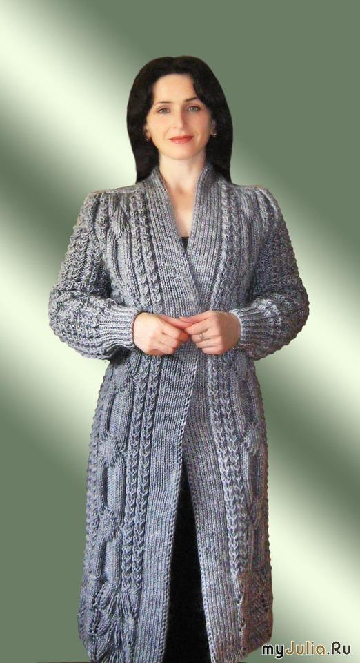 Вязание на спицами пальто для 581