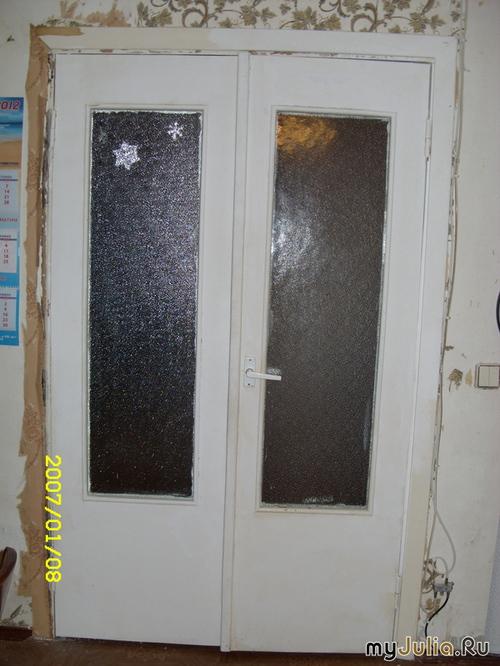 Дверь своими руками со стеклом 10