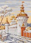 Русская зима (вышивание крестом, схема) .