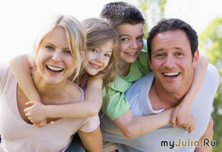Любящий муж и дети фото