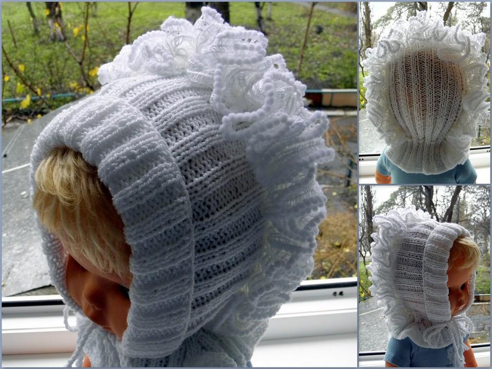 Вязание для девочек капор 50