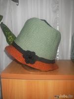 Вязание. Шляпка зимняя - двойная, теплая.