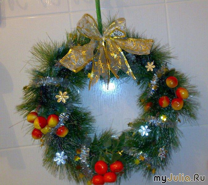 Рождественские веночки своими руками