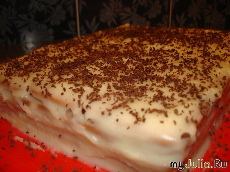 тортик из печенья на скорую руку рецепт