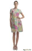 Модное короткое платье с пышной юбкой