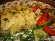 Курочка с грибами запеченная под картофельно-сырной шубкой