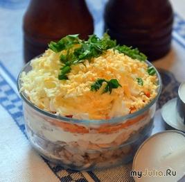 Салат с лососем консервированным рецепт