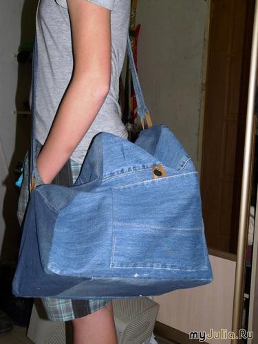 Сшить спортивную сумку своими руками из старых джинсов своими руками