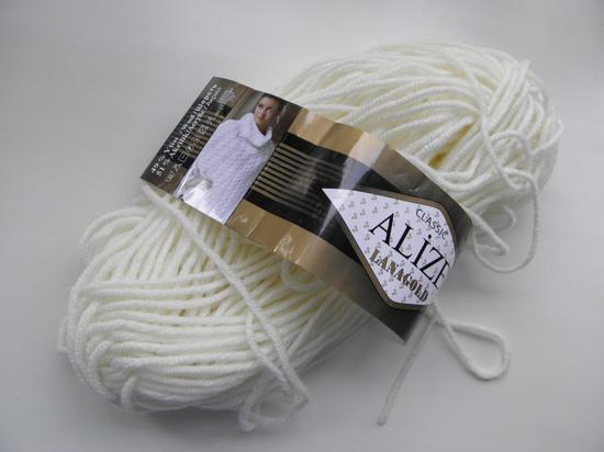 Alize lanagold classik 49% шерсть, 51% акрил 100 гр/ 240 м