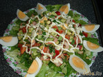 Салатик для любимых с креветками