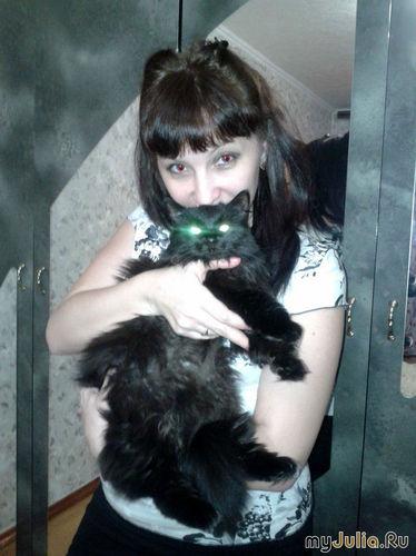 Ведьмочка и ее кошка