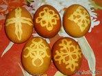 Яйца с ажурными рисунками