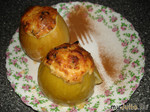 Яблочки запеченные с творогом и черносливом
