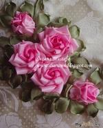 Шедевры из ленточных роз,3 мастер-класса. Сюзанна Мустафа. Малазия