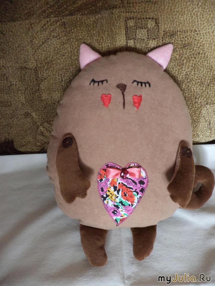 Декоративные подушки кошки своими руками выкройки фото схемы 69