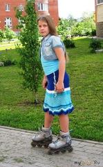Летняя ажурная юбка в морском стиле