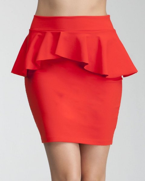 Pencil Skirts with Peplum SCANFREE