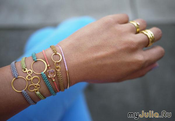 Модные браслеты тонкий