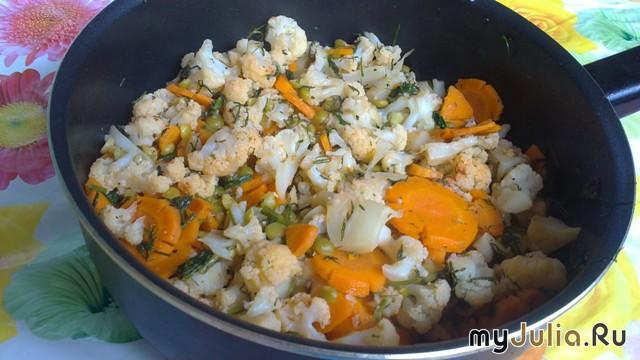 рагу из цветной капусты и риса