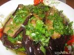 Баклажаны в чесночно-уксусном соусе с кинзой