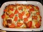 """Хлебно-сырная """"шарлотка"""" с помидорами"""