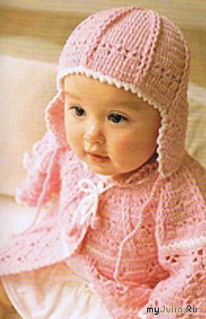 Как связать шапочку для девочки до года спицами