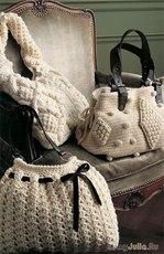 Сумочки из пряжи и пряжа для сумочек