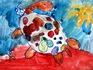 """Победитель конкурса """"Нарисуем радость"""" в номинации сюжет """"Веселая черепаха"""" Милана 4 года"""