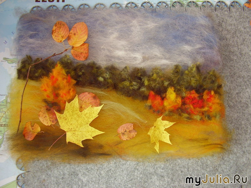 Поделки из шерсти осень 62