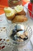 Маринованная скумбрия с картофелем