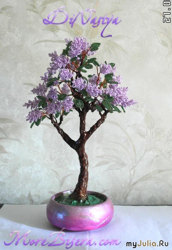 Сирень-дерево из бисера