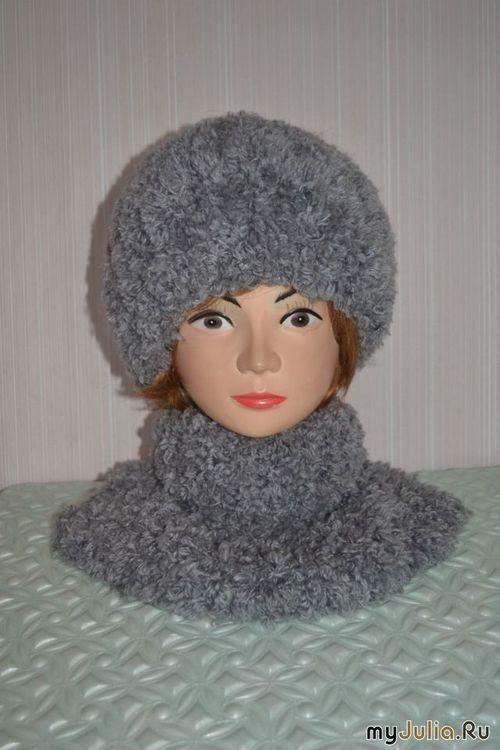 Вязание спицами шапочка из травки