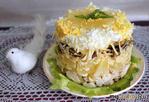 Салат с куриной грудкой и ананасом (повторялка)