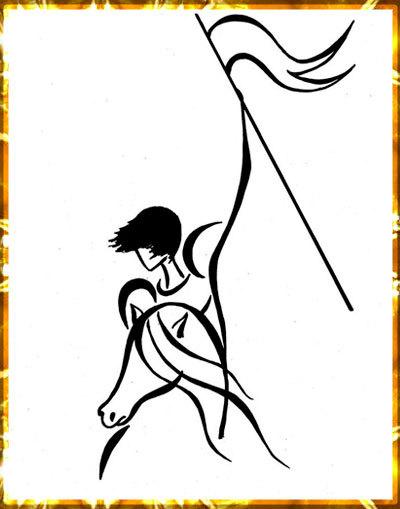 Жанна д'Арк (рисунок художницы Tatyana Markovtsev)
