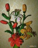 Тигровые лилии из пайеток МК. Автор: Arven