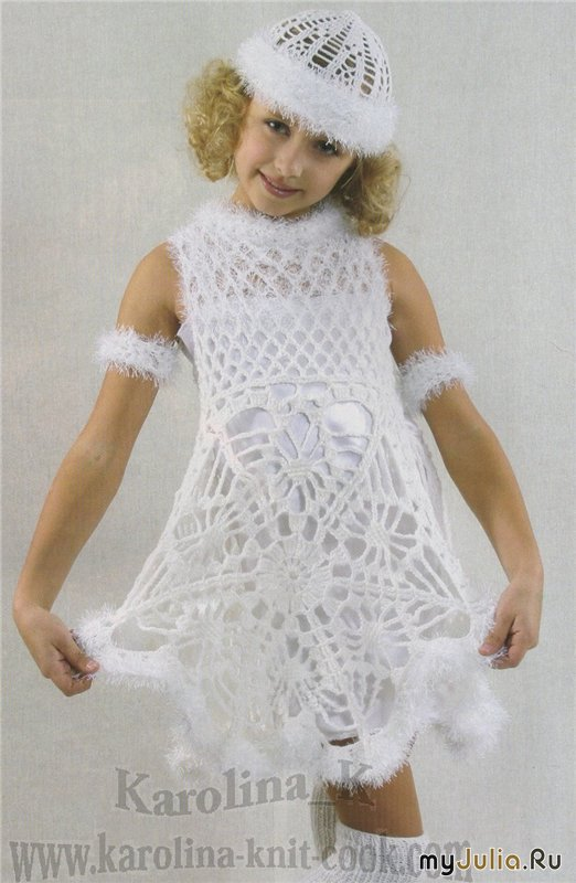 Платье для девочки к новому году своими руками
