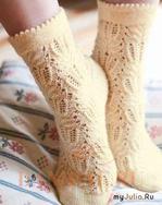 Ажурные носки «Морозные цветы»