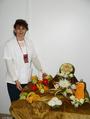Елена Антонова со своей композицией, 2-е место