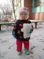 Первый день зимы или прогулка с внучкой Варенькой