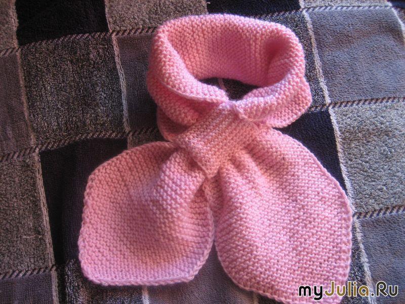 Вязание шарф с петлей 708